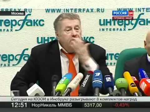 Жириновский пародирует Путина