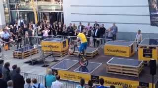 SolarWorld Sunmodule Protect Solar Panel Trial Bike Demonstration