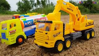 Cars Toys Playing for Kids | Construction Truck and Excavator for Children | Kid Videos