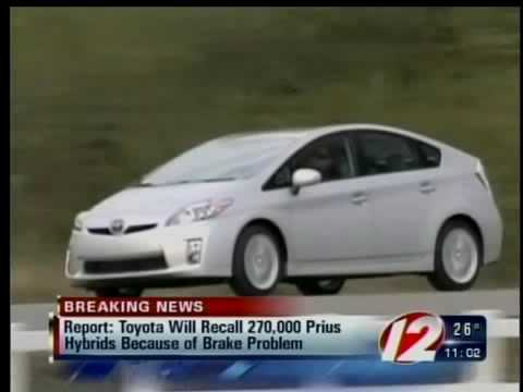 Tokyo Toyota will recall new Prius over brake problems