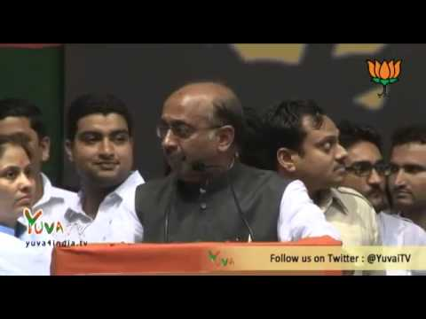 BJP Delhi President Vijay Goel with Shri Rajnath Singh address delhi youth at Talkatora - 16/06/2013
