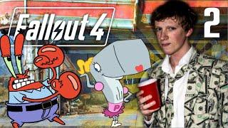 MENEER KRABS BOSSFIGHT! - Fallout 4 Playthrough #2