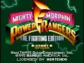 SNES Mighty Morphin Power Rangers: The Fighting Edition