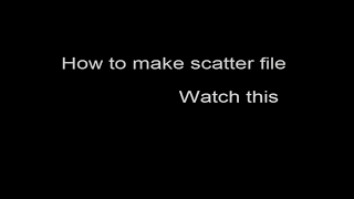 How to make scatter file
