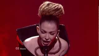 Rona Nishliu - Suus (Albania) Eurovision 2012 Grand Final Original HD 720P