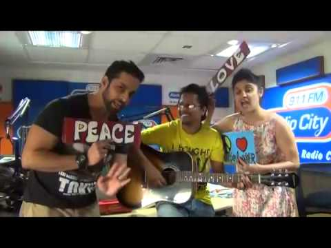 Debojyoti Nath Spreading Love and Peace at Radio City Mumbai with Salil and Archana