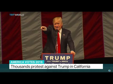 Thousands protest against Trump in California