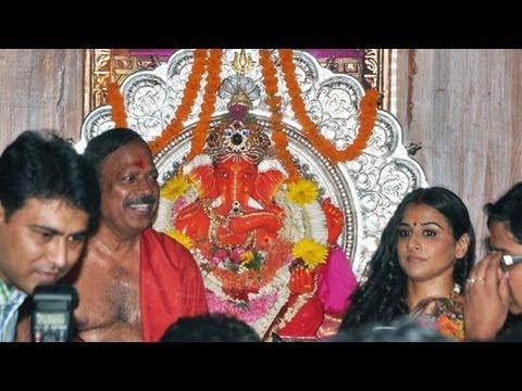 Vidya Balan Visits Siddhivinayak Temple video