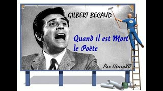 Watch Gilbert Becaud Quand Il Est Mort Le PoeTe video