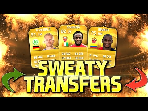 SWEATY TRANSFERS TEAM FT AS ROMA DOUMBIA,IBARBO - FIFA 15 JANUARY TRANSFER SQUAD BUILDER !