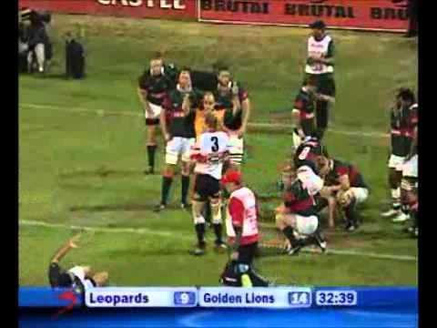 Leopards vs Lions - Currie Cup Rugby Video Highlights 2011