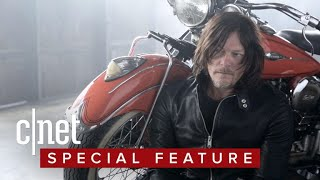 Norman Reedus really, really loves motorcycles!