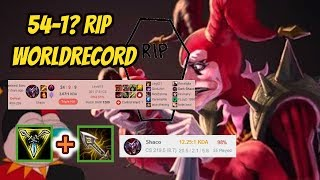 Rest in Peace Worldrecord [54 Games Shaco Winningspree has an end!] Infernal Shaco