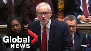 """Parliament has spoken"": Corbyn welcomes U.K. parliament decision to delay approval of Brexit deal"