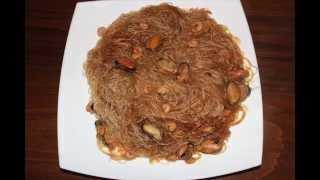 Вермишель из бобов фунчоза с морепродуктами