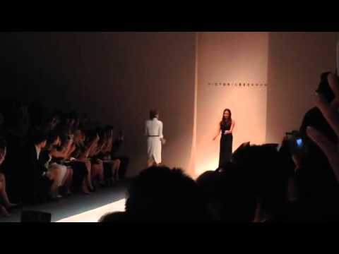 Singapore Fashion Week - Victoria Beckham takes a bow