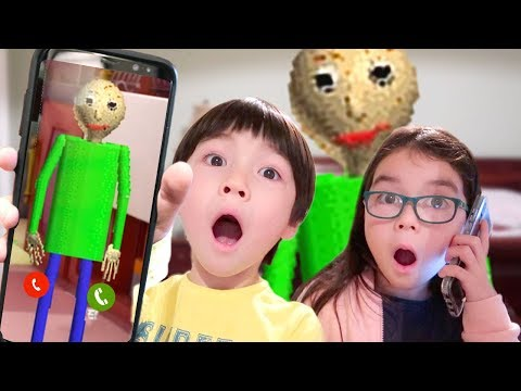 Calling BALDI'S BASICS in REAL LIFE and HE ANSWERED then CAME TO MY HOUSE SKIT