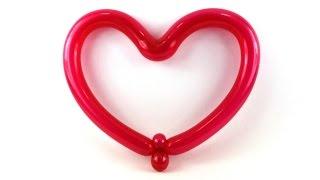 how to make balloon heart sculpture