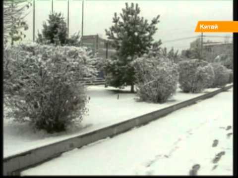 В Китае трое суток падает снег: детсады и школы парализованы