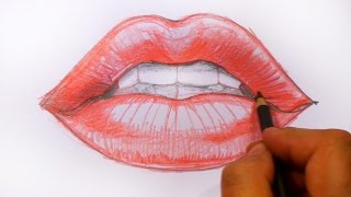How to Draw Red Lips - Speed Drawing | MAT