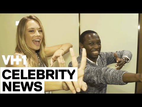 Hannah Ferguson with Jarvis in the Elevator | VH1