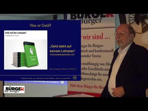 """Bürger für Bürger: """"Ursachen und verborgene Folgen der Finanz- und Flüchtlingskrise - Gaston Pfister"""