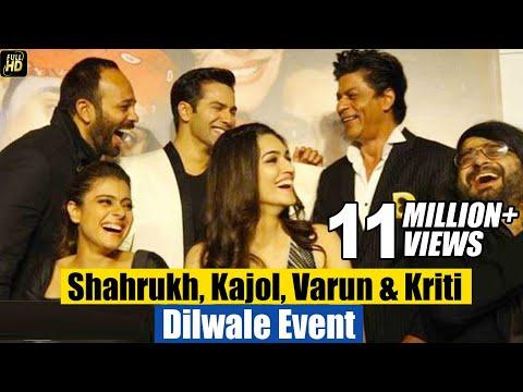 Dilwale Promotions Full Event - Shahrukh Khan,Kajol,Varun Dhawan,Kriti Sannon,Rohit Shetty thumbnail