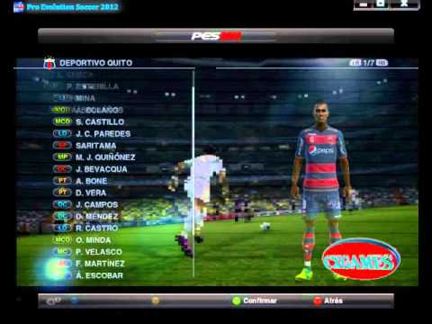 Parche Copa Credife para pes 2012