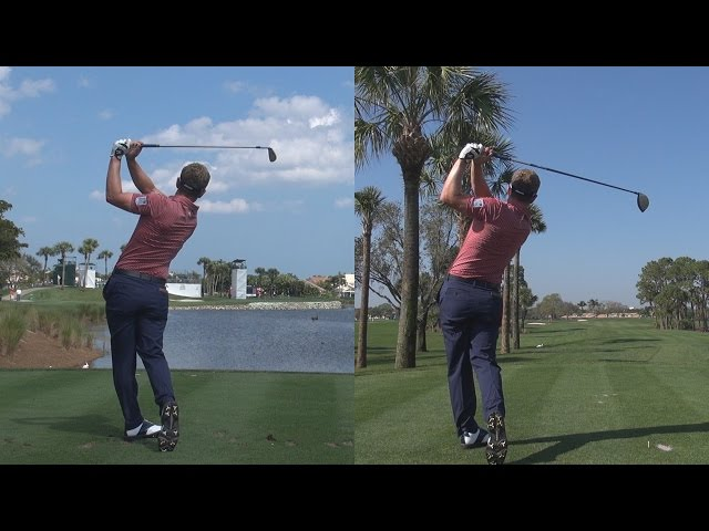 LUKE DONALD - 2014 DRIVER & IRON GOLF SWING SYNCED FULL SPEED & SLOW MOTION 1080p HD