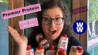 Premier Protein TASTE TEST & REVIEW of ALL Flavors