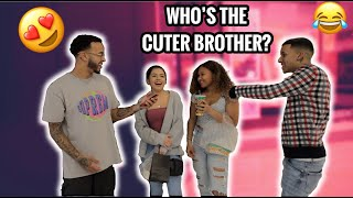 WHO'S THE BETTER LOOKING BROTHER?! *MUST WATCH* Public Interview
