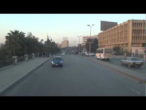 Cairo, Egypt - Driving through Cairo and across the Nile River HD (2013)