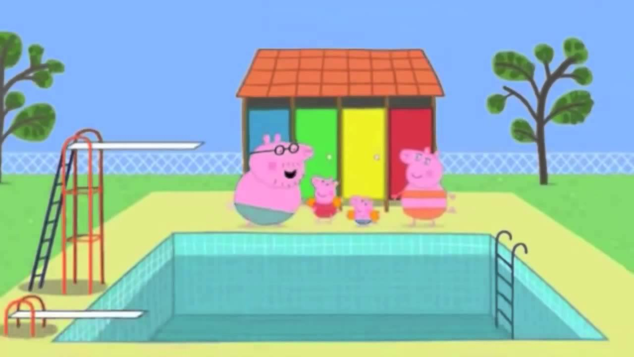 Peppa pig arabic swimming youtube mp4 youtube for Peppa pig swimming pool english full episode
