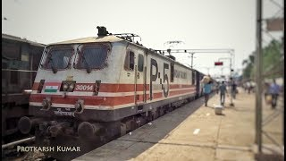 Gorakhpur - Lucknow Intercity Express departing from Gonda Jn. with Electric Locomotive WAP5..!!
