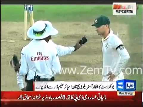 Aleem Dar and Michael Clarke Fight In Ashes