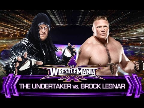 WWE WrestleMania 30 - The Undertaker vs Brock Lesnar - YouTube