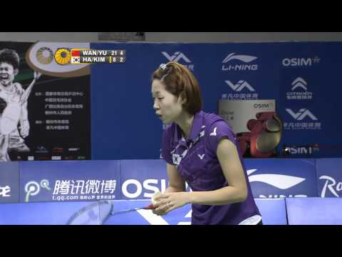 2011 OSIM BWF World Superseries Finals-WD-Finals-Xiaoli Wang_Yang Yu vs. Jung Eun Ha_Min Jung Kim