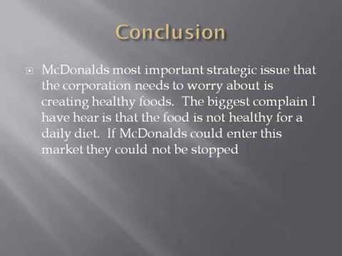 strategic alternatives for mcdonald Recommendations 1 the service differentiation strategy implies that mcdonald's shall offer superior services at each step of the customer touch points right.