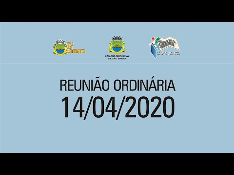REUNIAO ORDINARIA 14/04/2020