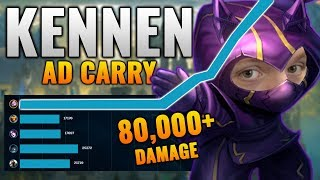 Kennen ADC is BACK!! (INSANE 1V9 CARRY) | Buffed Kennen ADC with Sykkuno