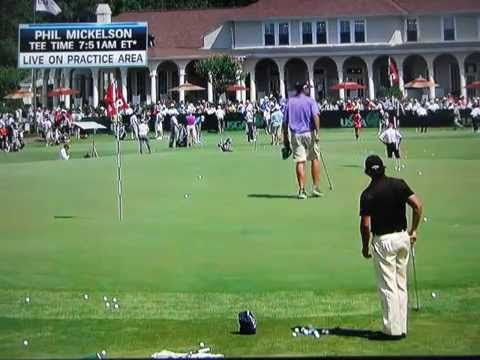 Phil Mickelson - Pitching / Chipping Practice (2014 US Open)