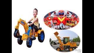 Trò Chơi Xe Máy Xúc – Máy Đào Đất  ❤ Sieu Nhan TV ❤ Đồ Chơi Trẻ Em Ăn Nhanh- Thông Minh.
