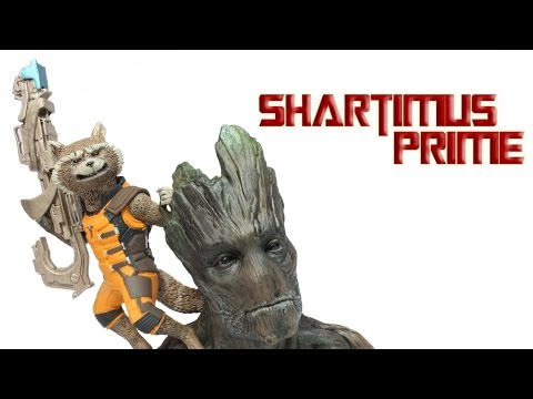 Kotobukiya Rocket Raccon and Groot Guardians of the Galaxy ArtFX+ 1:10 Scale Movie Statue Review