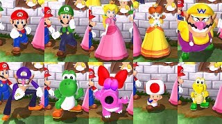 Mario Party 9 All Characters Solo Mode Intro Animations