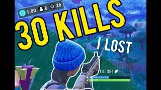 I choked a 30 kill solo squad win in Fortnite