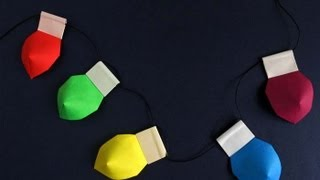Make Origami Christmas Lights -luces De Navidad