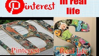 DIY Comic Book Letter Art - Pinterest in Real Life