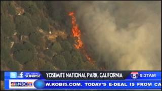 Yosemite national park fire caused by sparks  - Oct 10th, 2014