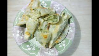 시장 당면만두굽기  How to frying dumplings with noodles inside  チャプチェ餃子