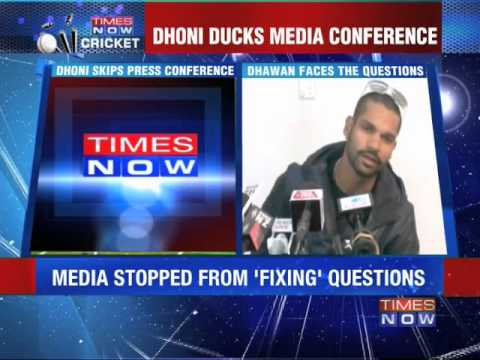 Ms Dhoni Ducks Media Conference video